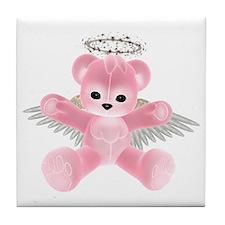 PINK ANGEL BEAR Tile Coaster