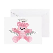 PINK ANGEL BEAR Greeting Card