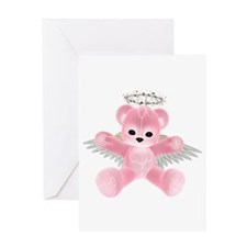 PINK ANGEL BEAR Greeting Card