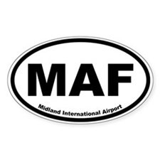 Midland International Airport Oval Decal
