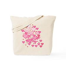 Sprinkle of Hearts Tote Bag