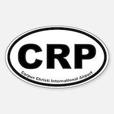 Corpus Christi Intl Airport Oval Decal