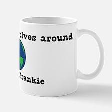 World Revolves Around Frankie Mug