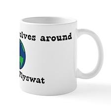 World Revolves Around Flyswat Mug
