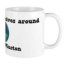 World Revolves Around Winston Mug
