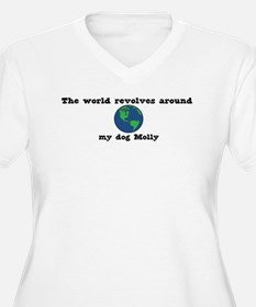 World Revolves Around Molly T-Shirt