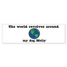 World Revolves Around Molly Bumper Bumper Sticker