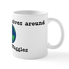 World Revolves Around Waggles Mug