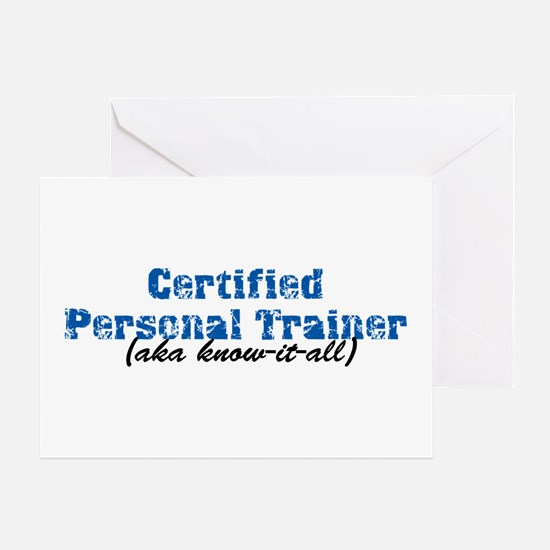 Certified Personal Trainer nta Greeting Card
