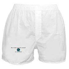 World Revolves Around Missy Boxer Shorts