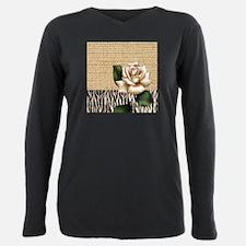 shabby chic burlap rose T-Shirt
