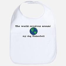 World Revolves Around Tinkerb Bib