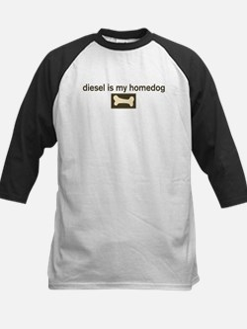 Diesel is my homedog Kids Baseball Jersey
