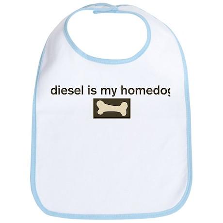 Diesel is my homedog Bib