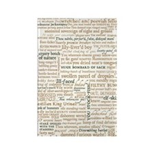 Shakespeare Insults Rectangle Magnet