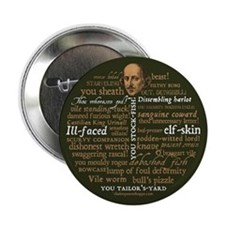 "Shakespeare Insults 2.25"" Button (10 pack)"