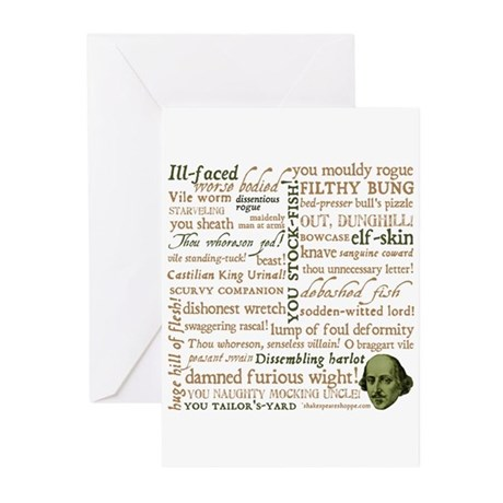 Shakespeare Insults Greeting Cards (Pk of 20)