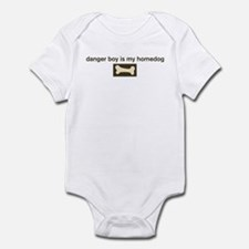 Danger Boy is my homedog Infant Bodysuit