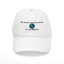 World Revolves Around Madison Baseball Cap
