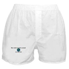 World Revolves Around Luna Boxer Shorts