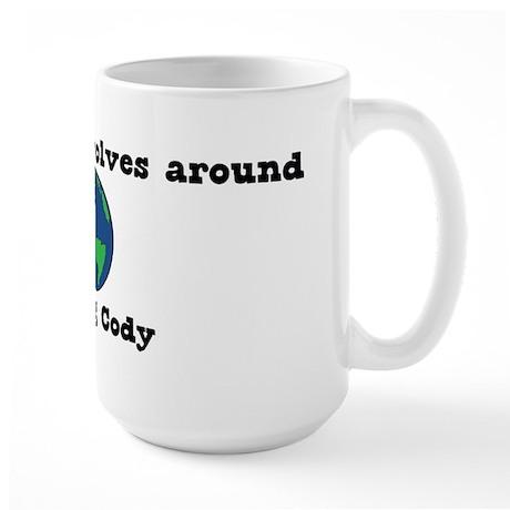 World Revolves Around Cody Large Mug