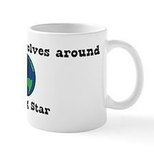 World Revolves Around Star Mug