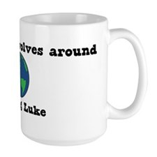 World Revolves Around Luke Mug