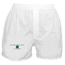 World Revolves Around Spotsie Boxer Shorts