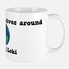World Revolves Around Loki Mug