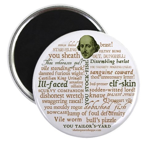 Shakespeare Insults Magnet