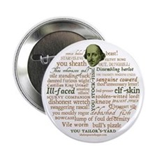 "Shakespeare Insults 2.25"" Button"