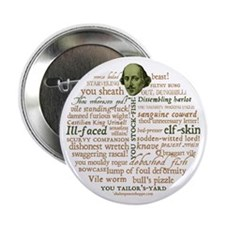 "Shakespeare Insults 2.25"" Button (100 pack)"