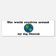 World Revolves Around Chinook Bumper Bumper Bumper Sticker