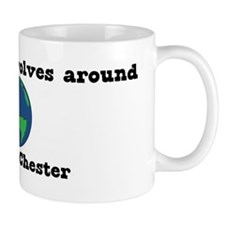 World Revolves Around Chester Mug