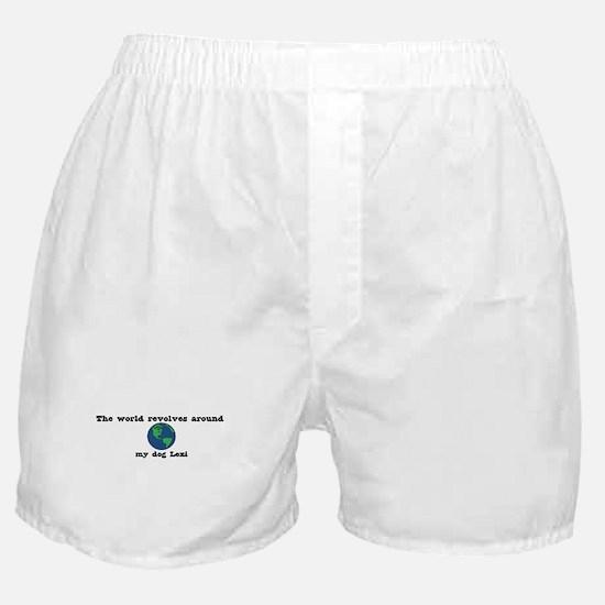 World Revolves Around Lexi Boxer Shorts