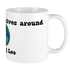 World Revolves Around Leo Mug