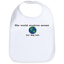 World Revolves Around Leo Bib