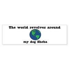 World Revolves Around Sheba Bumper Bumper Sticker