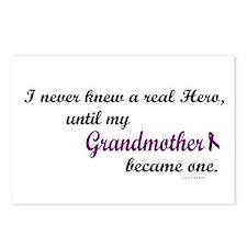 Never Knew A Hero GRANDMOTHER (Purple) Postcards (