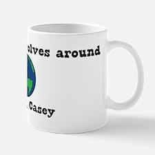 World Revolves Around Casey Mug
