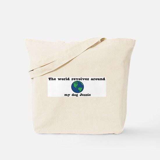 World Revolves Around Jessie Tote Bag