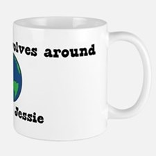 World Revolves Around Jessie Mug