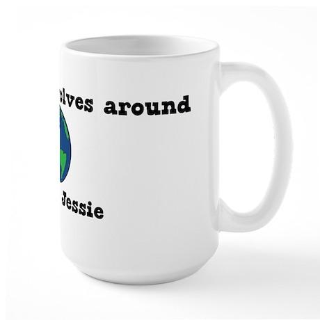 World Revolves Around Jessie Large Mug