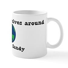 World Revolves Around Sandy Mug