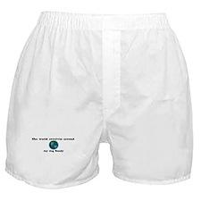 World Revolves Around Sandy Boxer Shorts