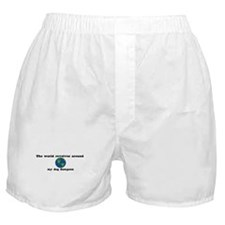 World Revolves Around Sampson Boxer Shorts