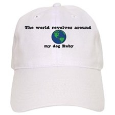 World Revolves Around Ruby Baseball Cap