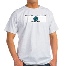 World Revolves Around Blue T-Shirt