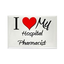 I Heart My Hospital Pharmacist Rectangle Magnet