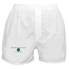 World Revolves Around Belle Boxer Shorts